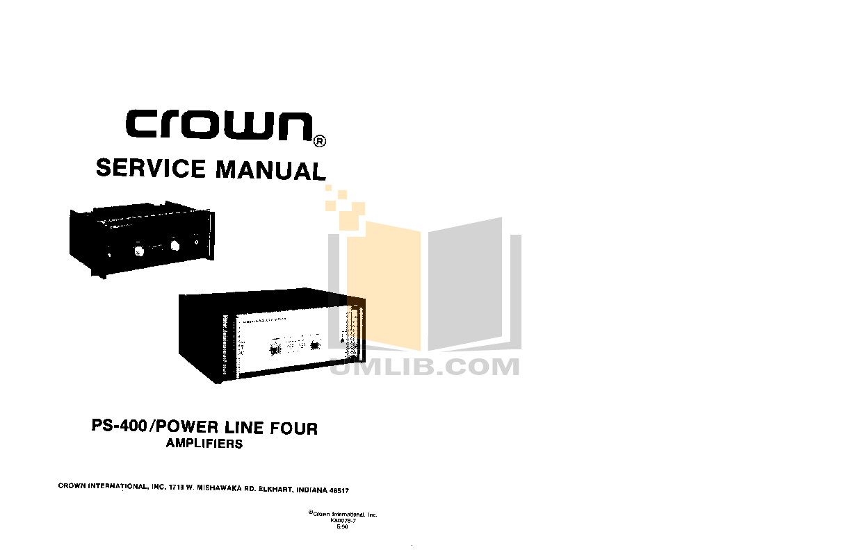 Download free pdf for Crown PS-200 Amp manual