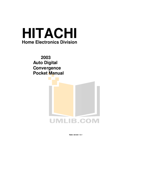 Download free pdf for Hitachi 51UWX20B TV manual