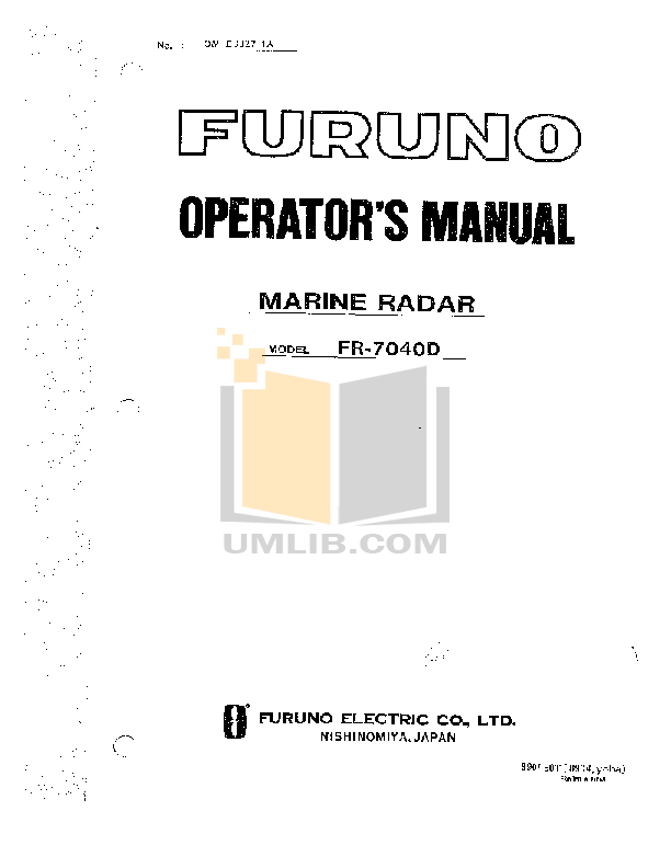 Download free pdf for Furuno GP-32 GPS manual