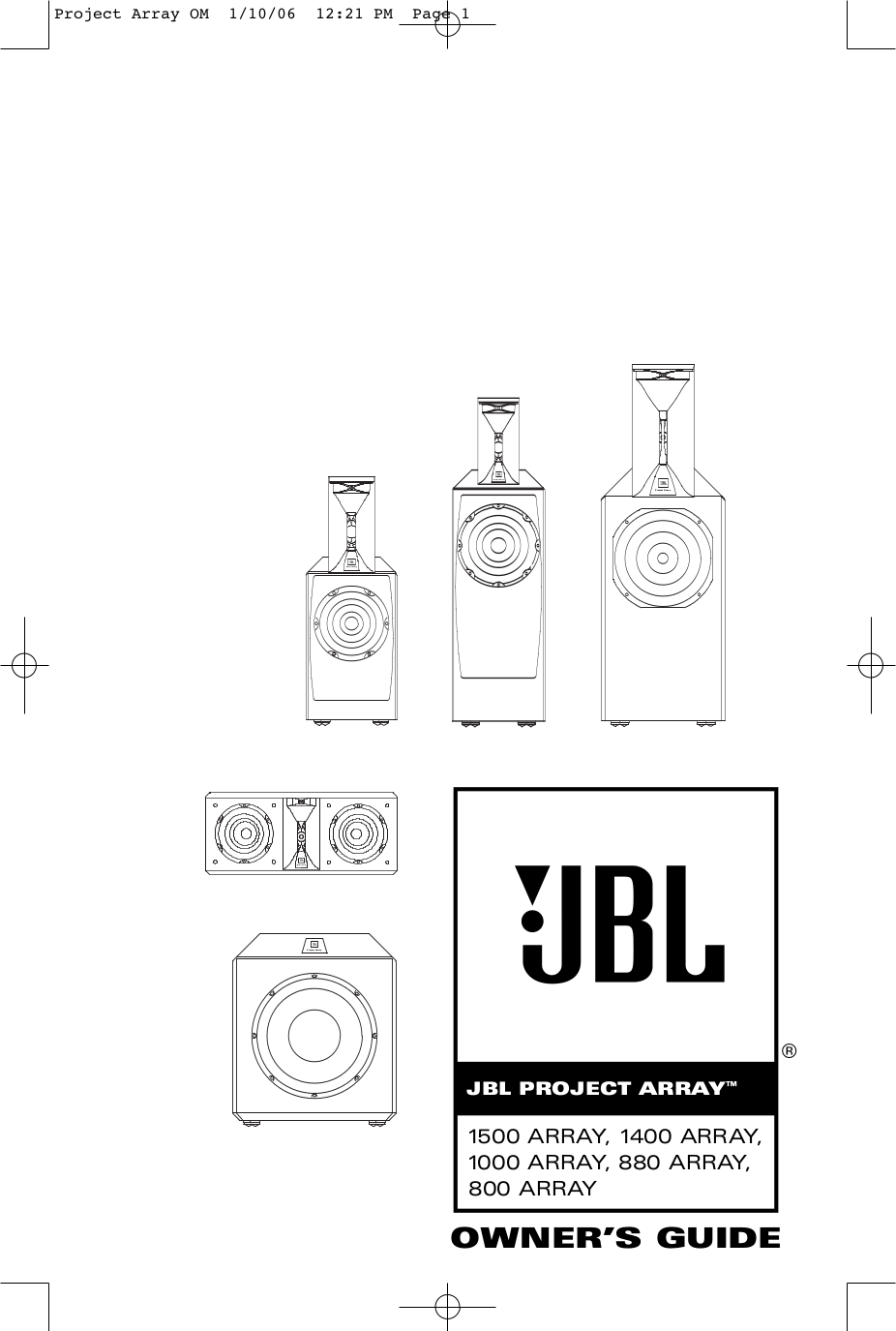 Download free pdf for JBL 1500 ARRAY Subwoofer manual
