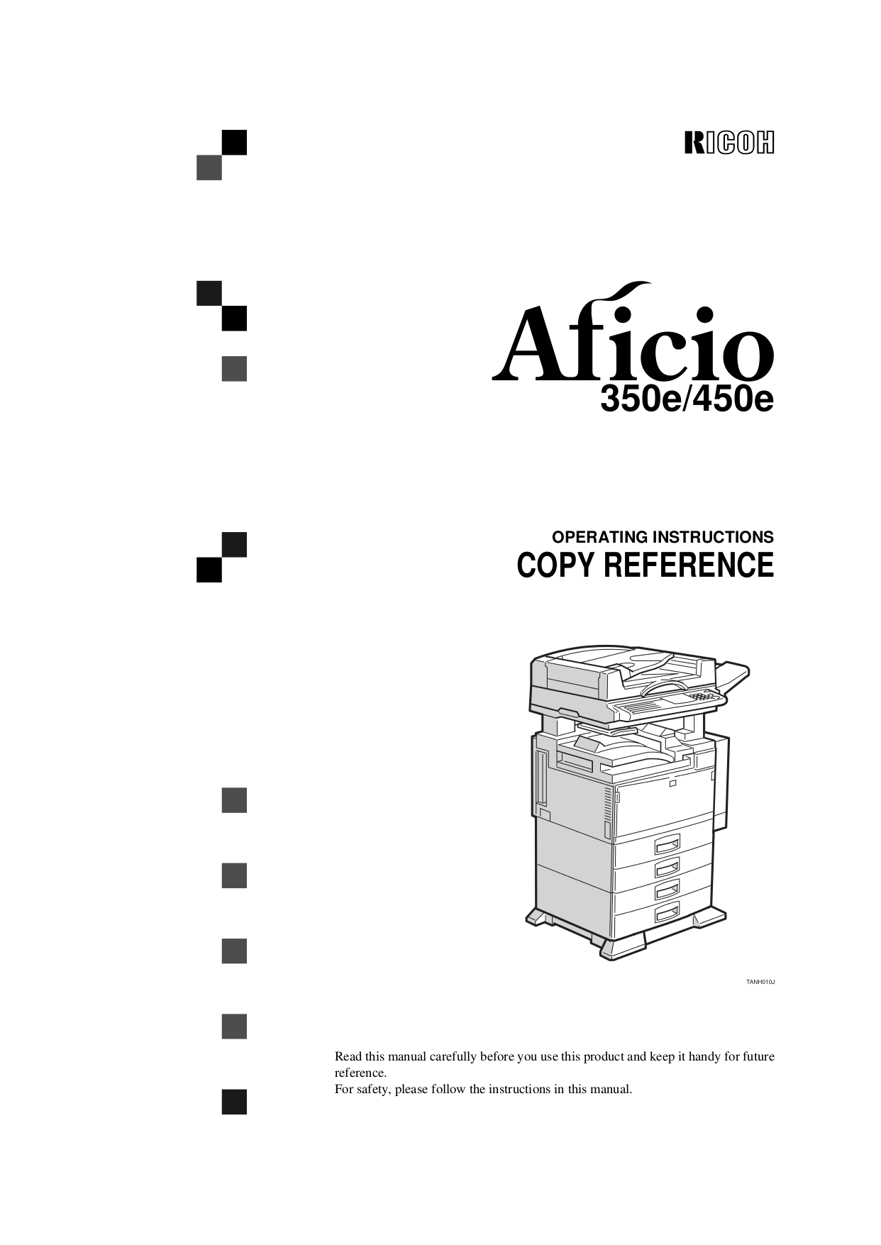 Download free pdf for Ricoh Aficio 450e Multifunction