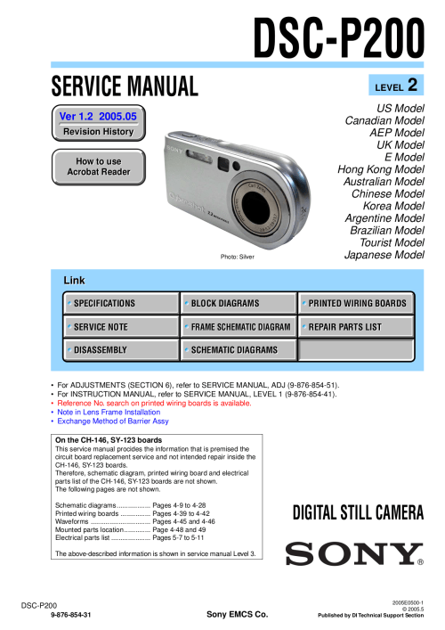 small resolution of pdf for sony digital camera cybershot cyber shot dsc p200 manual