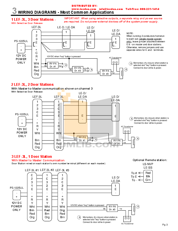 AIPHONE LEF 3L Wiring.pdf 2 wat lef 3 wiring guide intercom wiring diagram \u2022 wiring diagrams j Aiphone Spec-Sheets at crackthecode.co