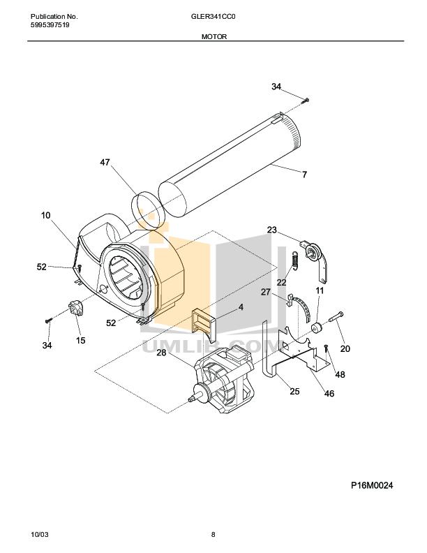 PDF manual for Frigidaire Dryer GLER341CC0