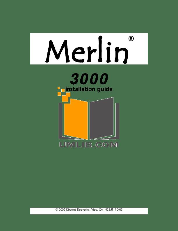 Download free pdf for DEI Merlin 3000 Remote Control manual