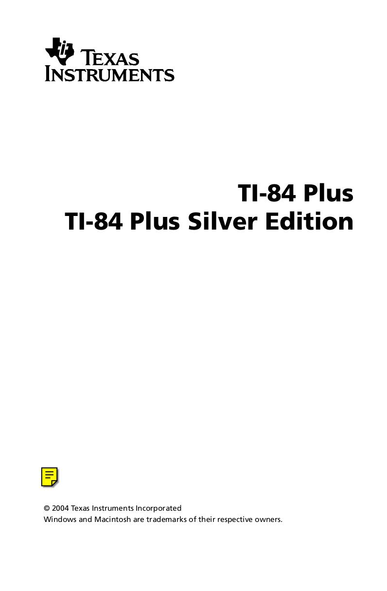 PDF manual for TI Calculator TI-34 II Explorer Plus