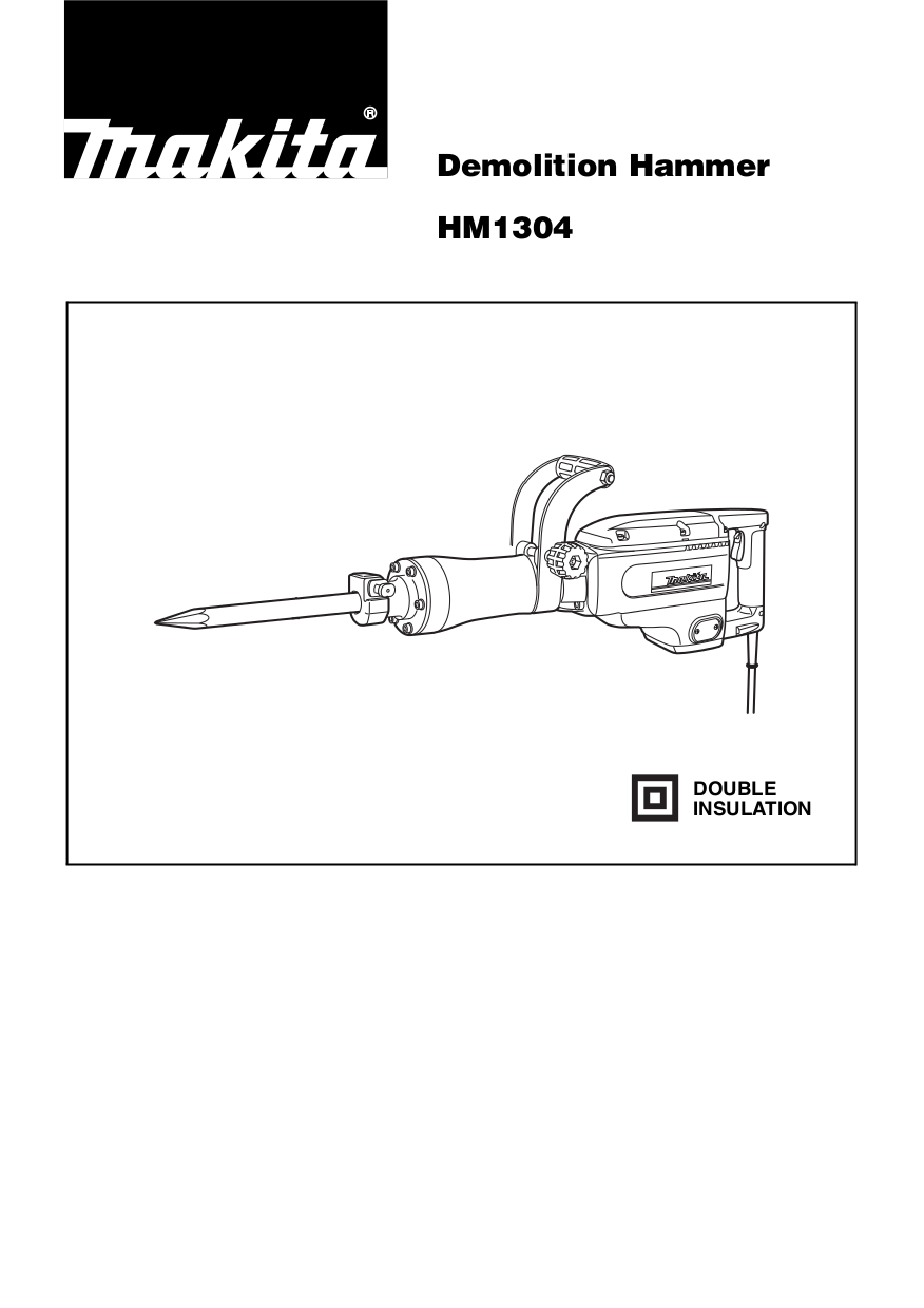 Download free pdf for Makita HM1304B Demolition Hammer