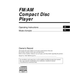 pdf for sony car receiver cdx mp40 manual [ 876 x 1240 Pixel ]
