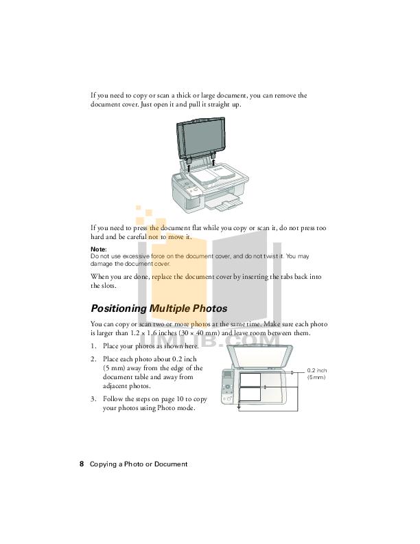 PDF manual for Epson Multifunction Printer Stylus CX5900