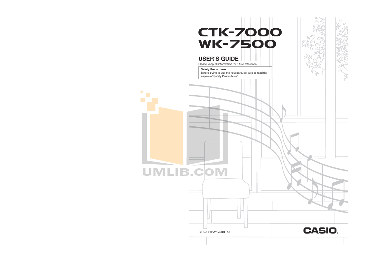 Download free pdf for Casio WK-3000 Music Keyboard manual
