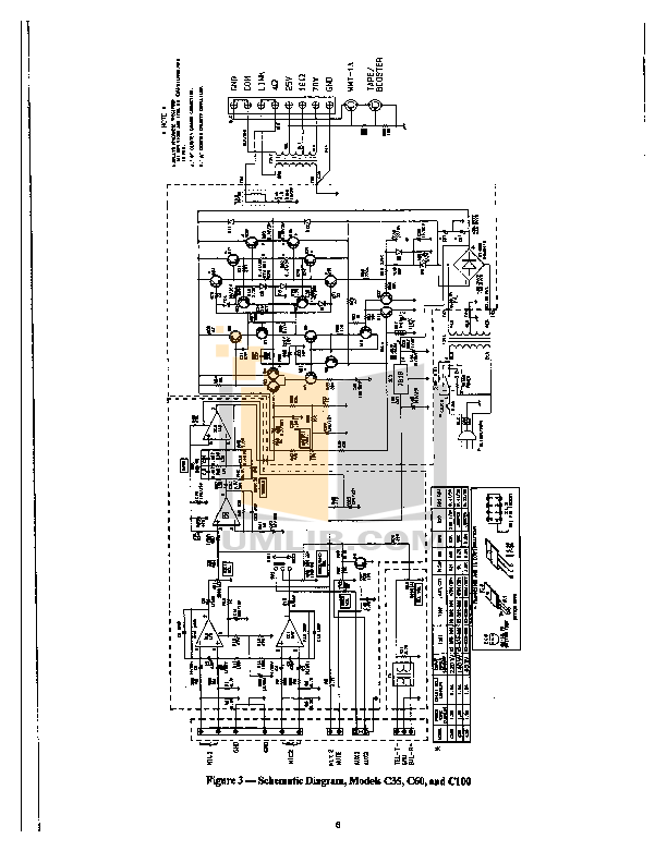 PDF manual for Bogen Amp C100