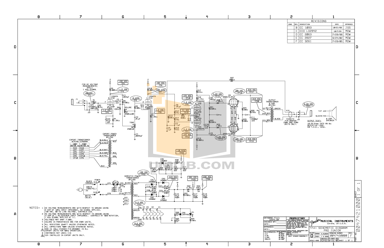 Fender Pro Junior Schematic Ebook Download