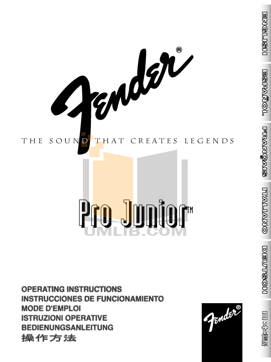 Download free pdf for Fender Pro Junior Amp manual