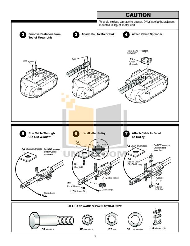 PDF manual for Chamberlain Other 8200 Garage Door Openers