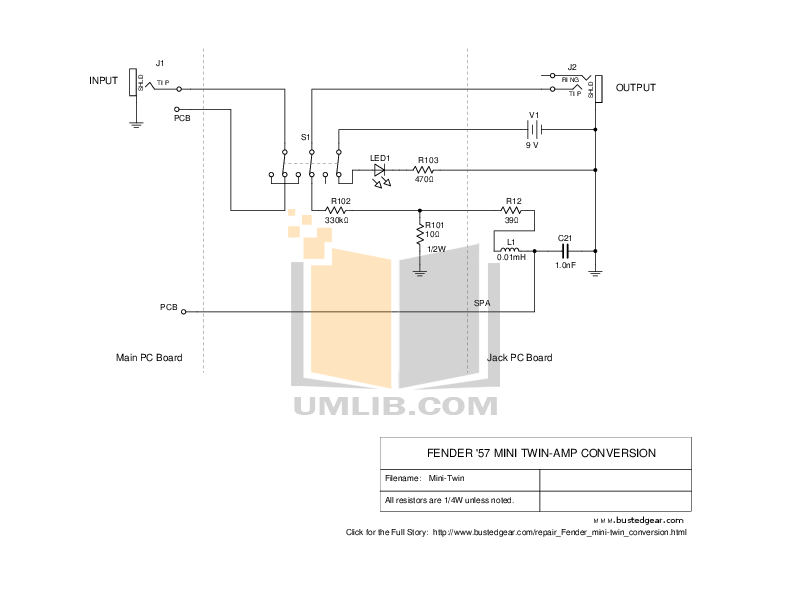 Download free pdf for Fender 57 Twin Amp manual