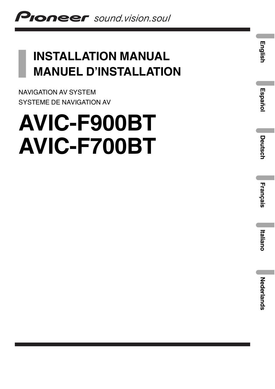 medium resolution of pdf for pioneer gps avic f700bt manual
