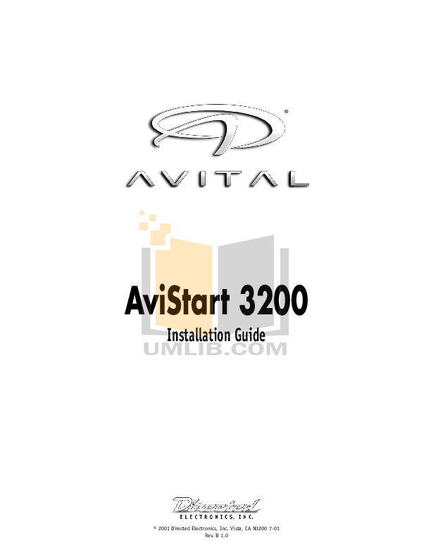 Download free pdf for DEI Avital 3200 Car Alarms Other manual