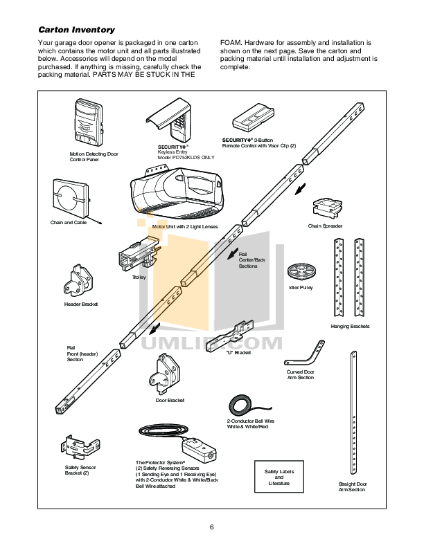 PDF manual for Chamberlain Other Power Drive PD752DS