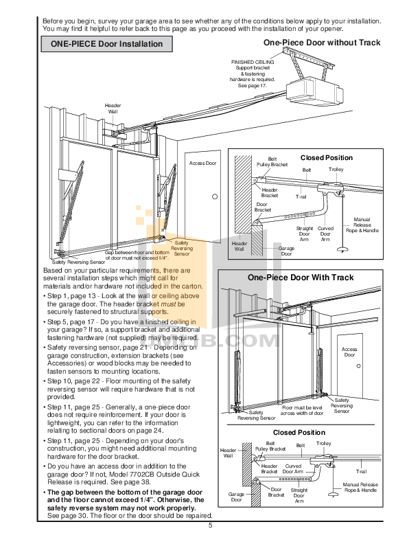 PDF manual for Chamberlain Other 9500-3K Garage Door Openers