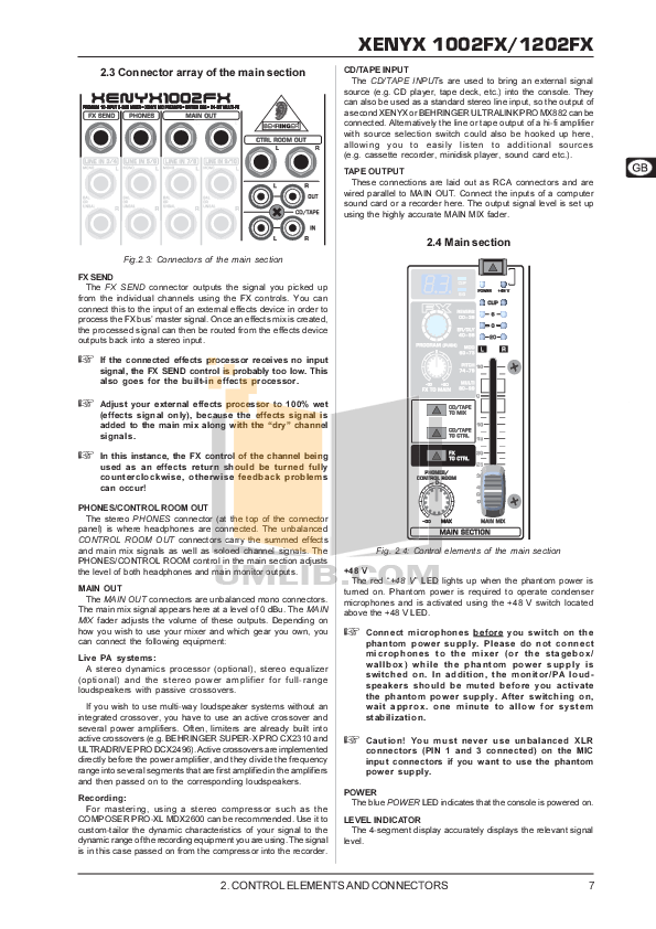 PDF manual for Behringer Other Super-X Pro CX2310 Crossovers