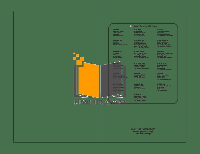 PDF manual for Haier Refrigerator HRF-220