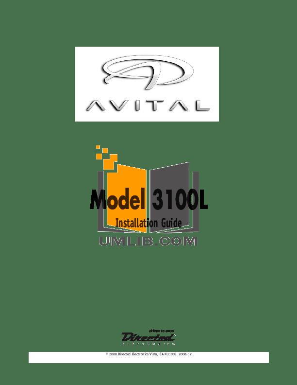 PDF manual for DEI Other Avital Maxx 3 Car Alarms