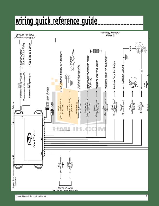 directed electronics 3100 wiring diagram yamaha golf cart avital -