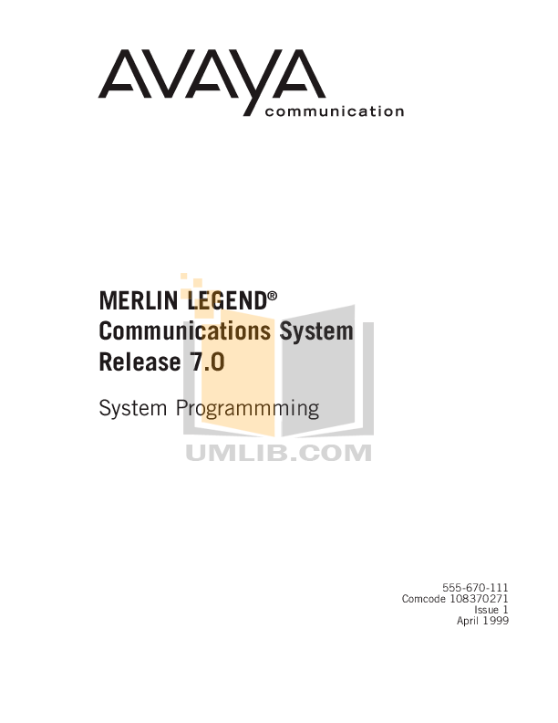 Download free pdf for Avaya Merlin Legend MLX-16DP
