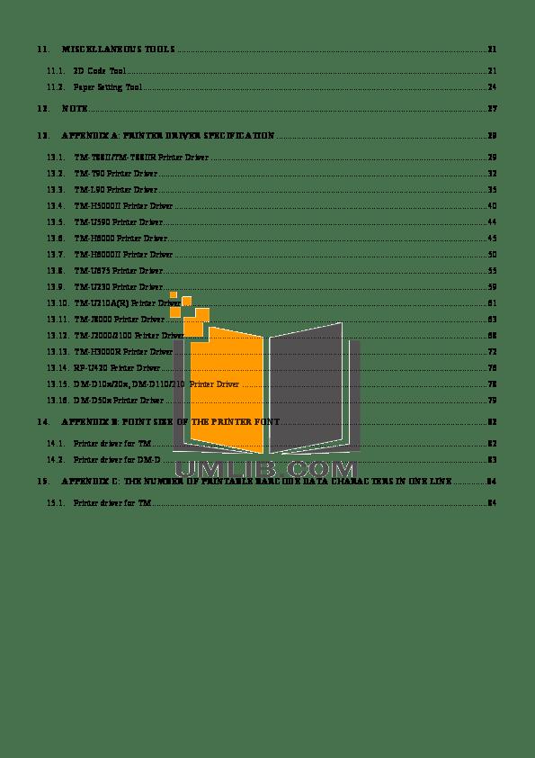 PDF manual for Epson Printer TM-U675