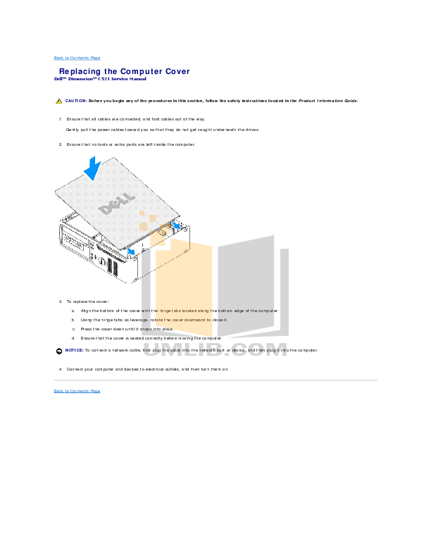 PDF manual for Dell Desktop Dimension C521