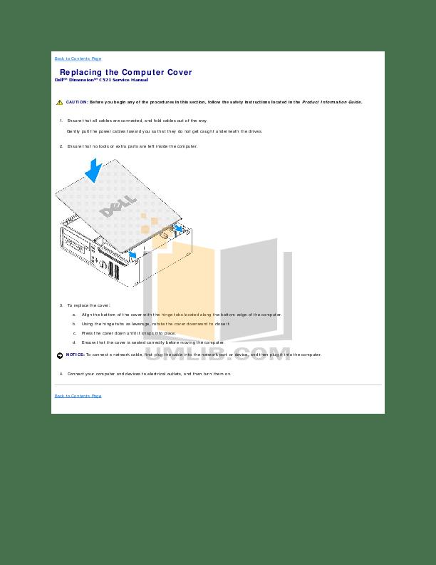 PDF manual for Dell Desktop Dimension C521