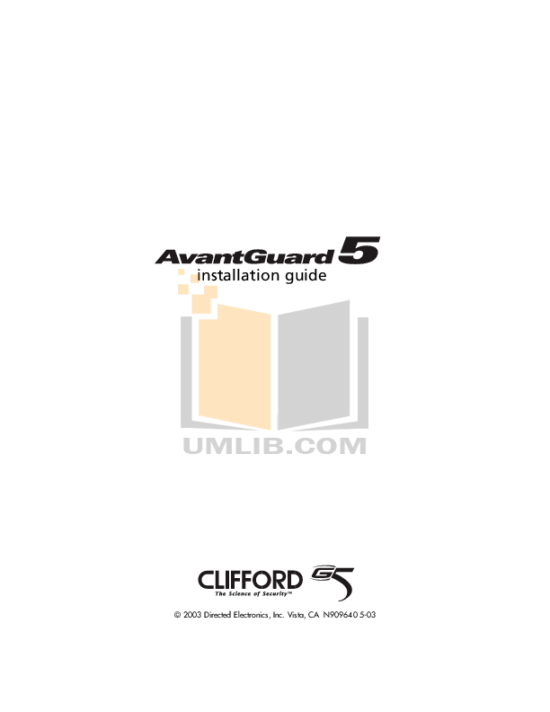 Download free pdf for dei clifford smart remote start 3