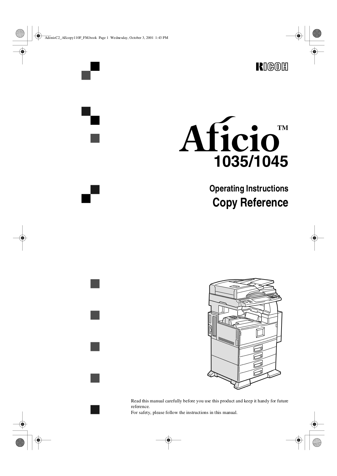 Download free pdf for Ricoh Aficio 1035 Multifunction
