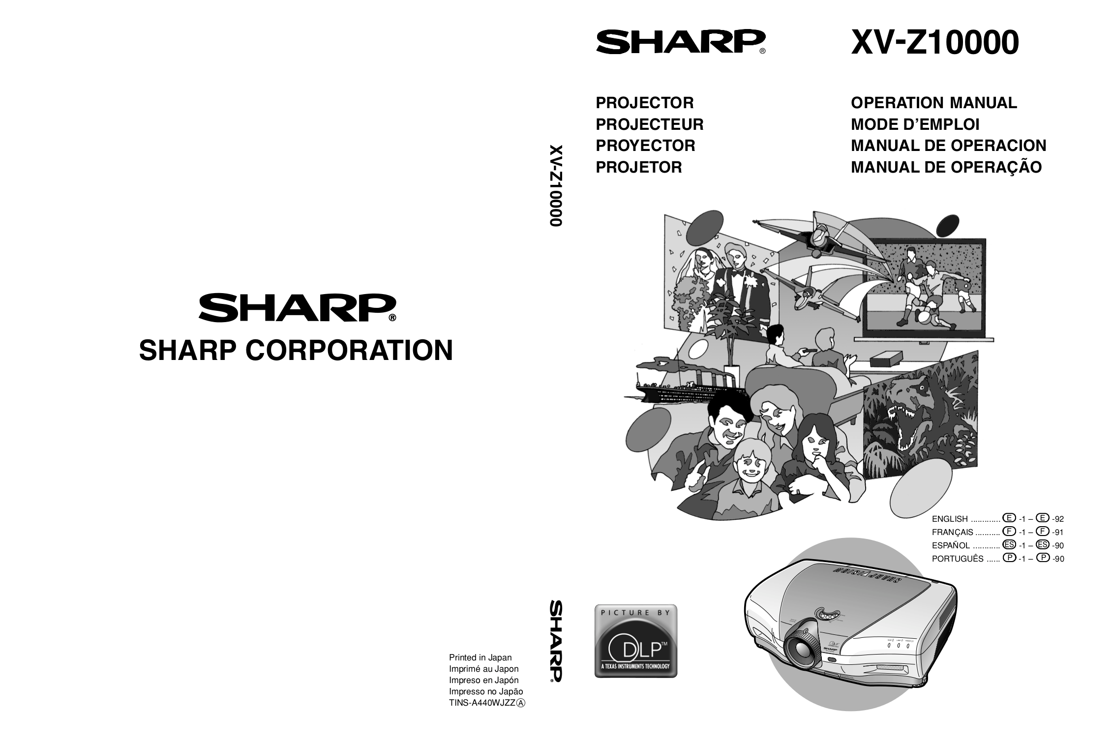 Download free pdf for Sharp Vision XV-Z10000 Projector manual