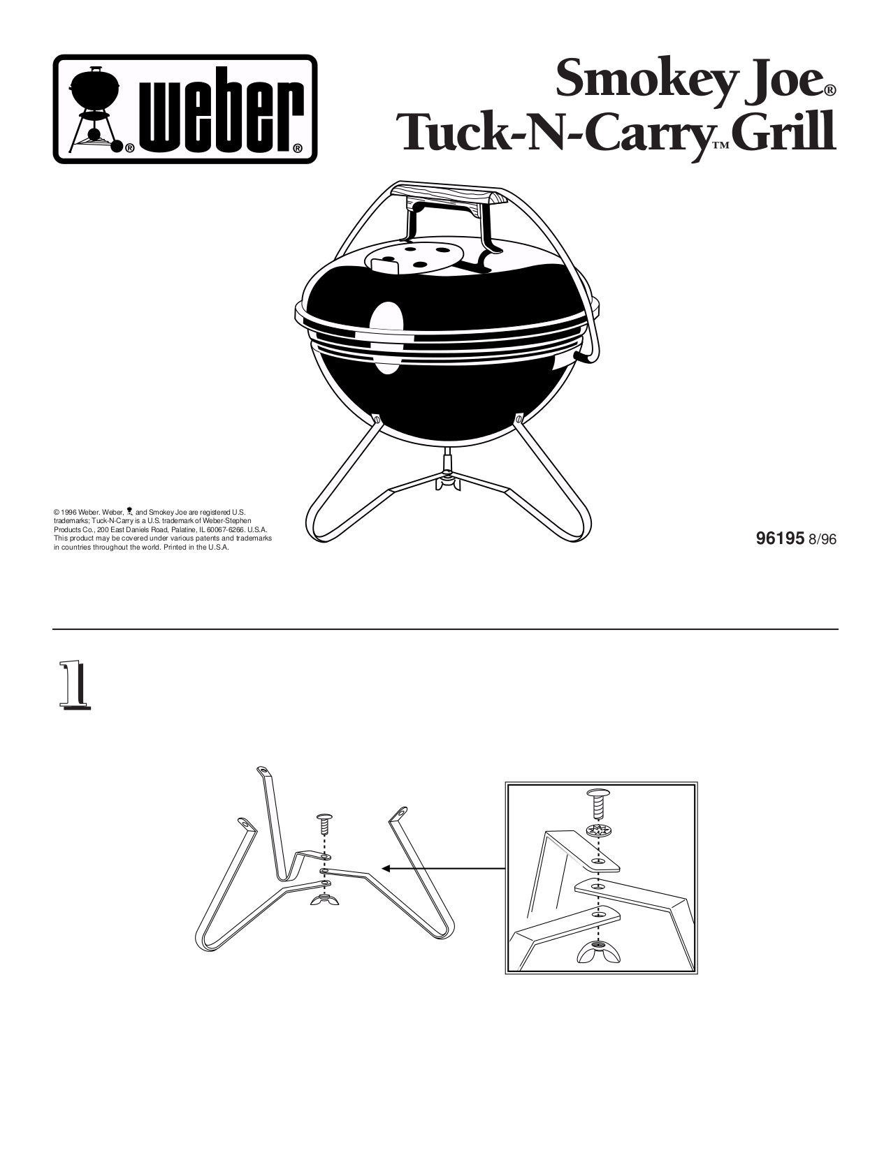 Download free pdf for Weber Smokey Joe Grill manual