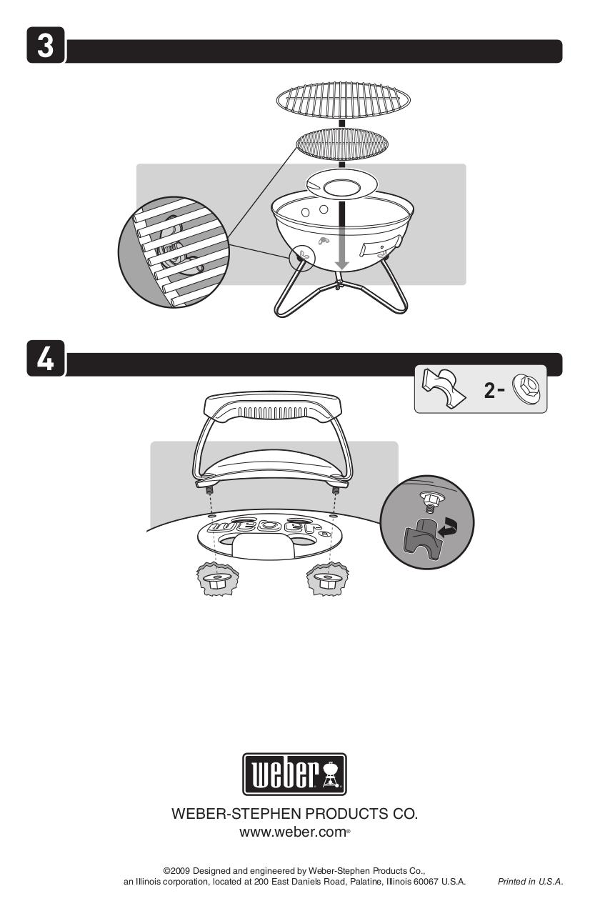 PDF manual for Weber Grill Smokey Joe