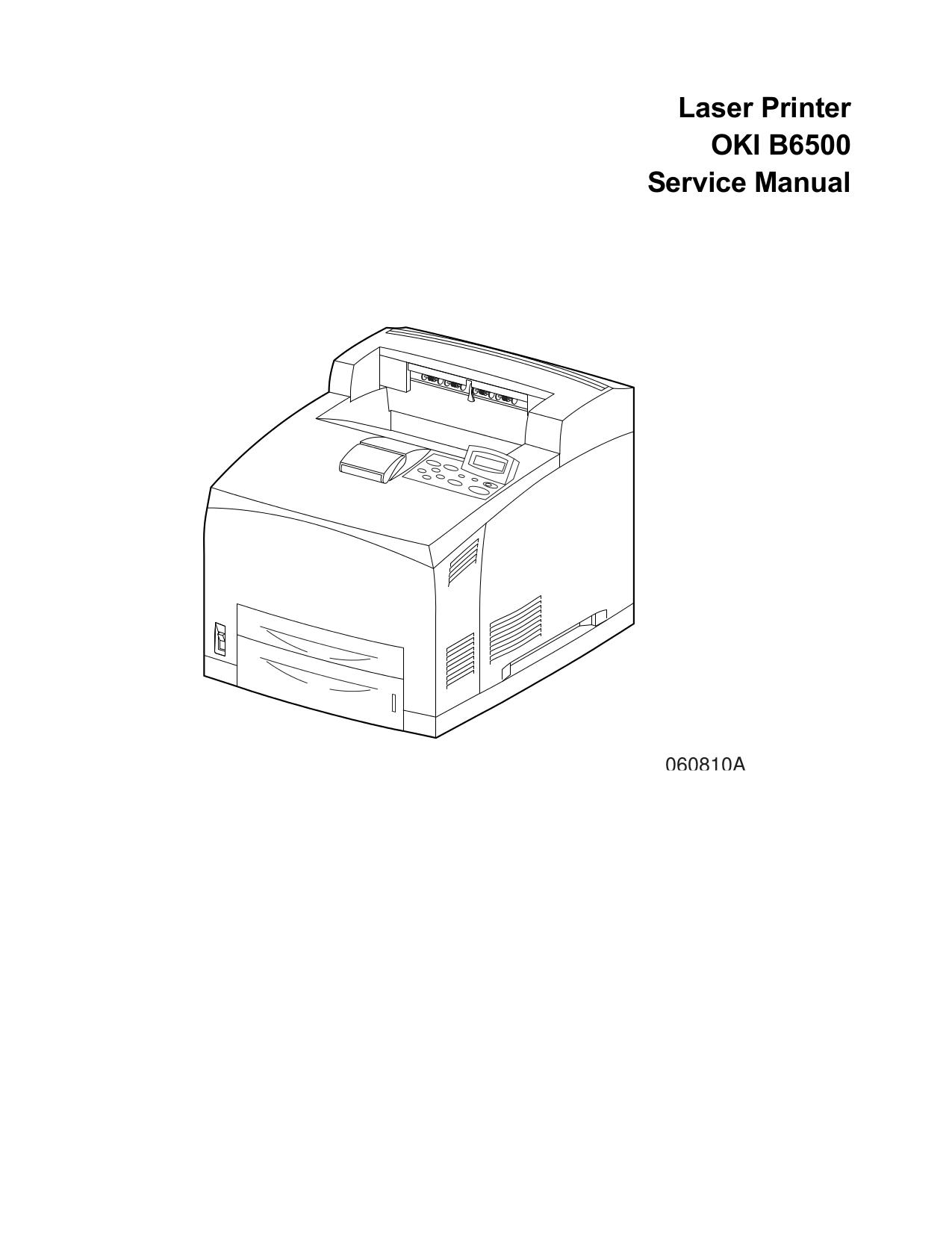 Download free pdf for Oki B6500 Printer manual