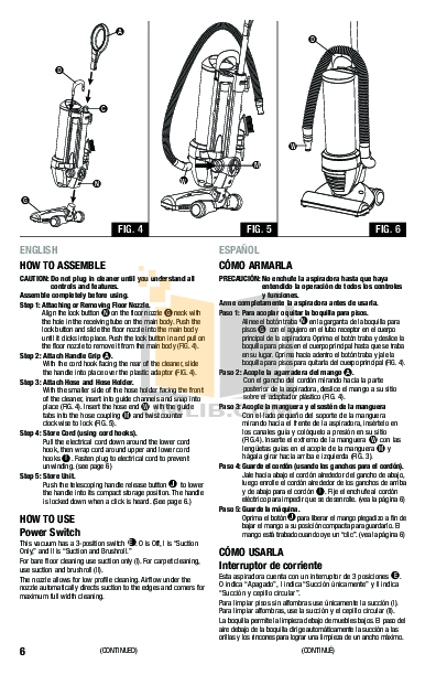 PDF manual for Eureka Vacuum Optima 431F