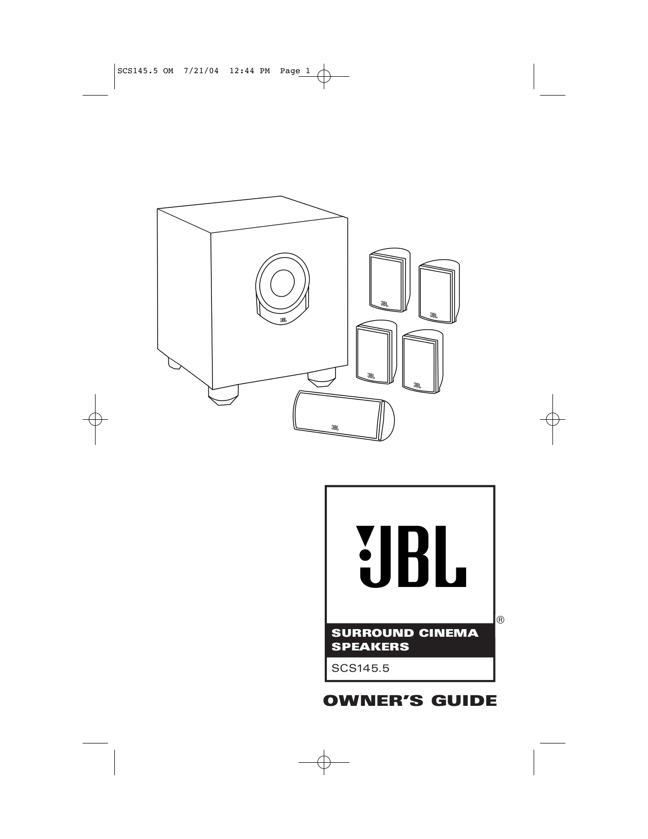 Download free pdf for JBL SCS 20 Speaker manual