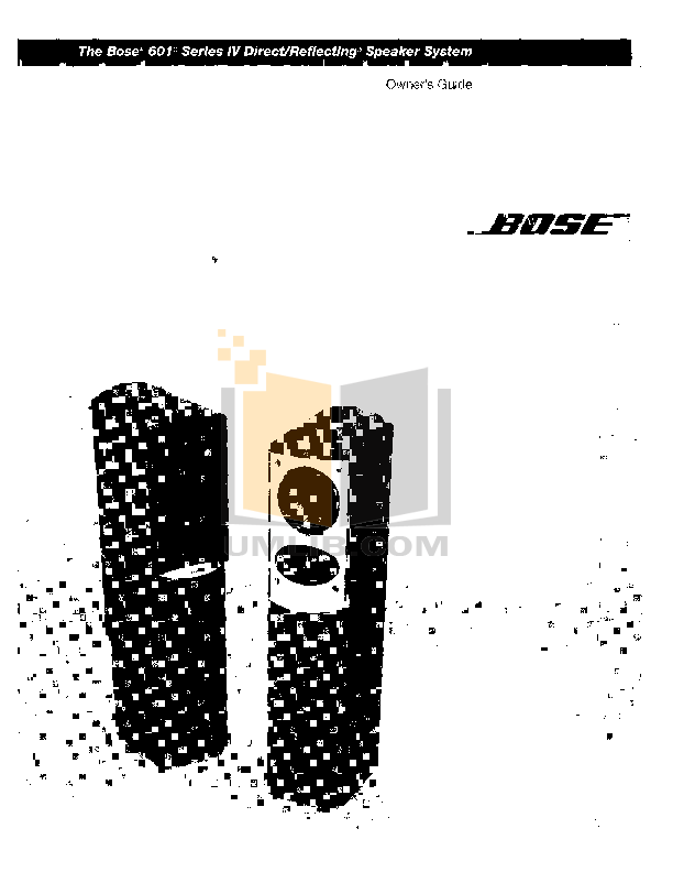 Download free pdf for Bose 501 Speaker manual