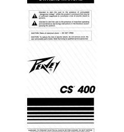 pdf for peavey amp cs 400 manual [ 1275 x 1651 Pixel ]