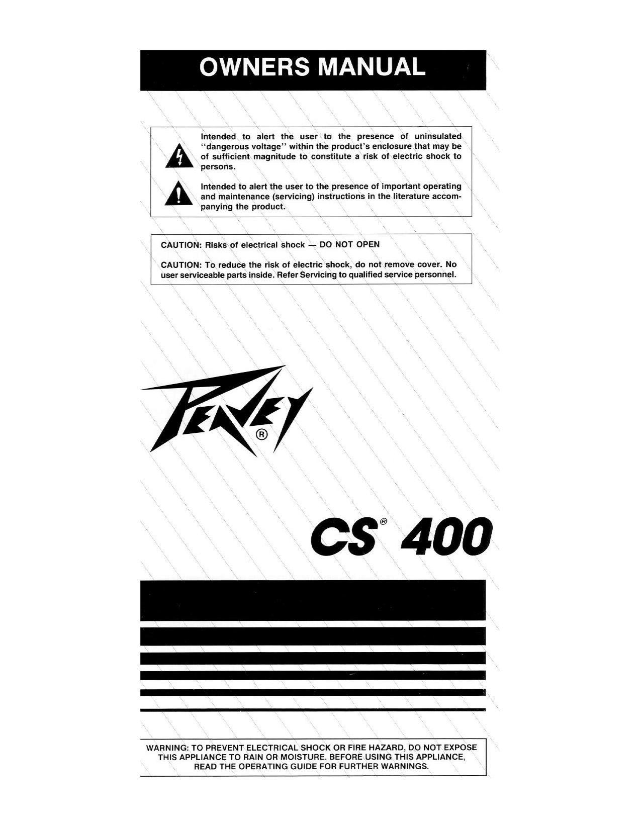 hight resolution of pdf for peavey amp cs 400 manual