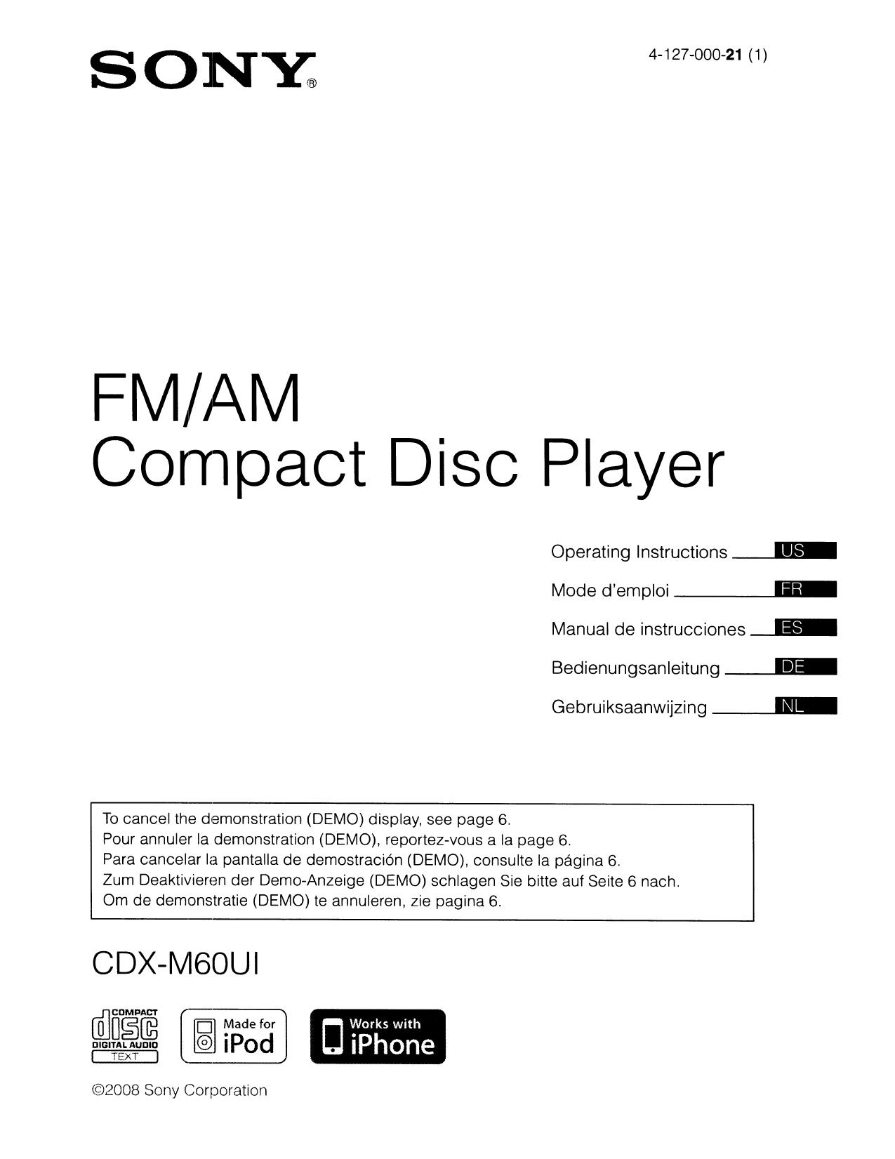 hight resolution of sony cdx m60ui marine cd receiver in dash cnet