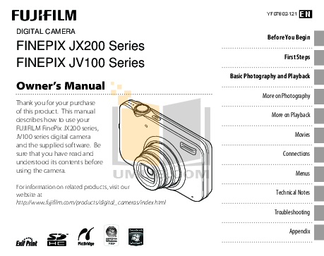 Download free pdf for FujiFilm Finepix 4700 Digital Camera