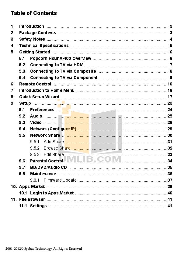 PDF manual for HP Desktop Pavilion a400