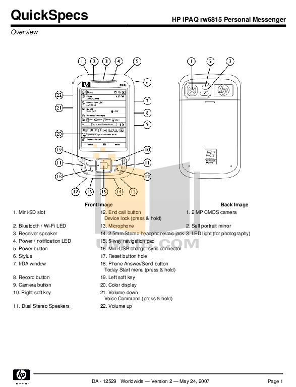 HP RW6815 MANUAL PDF