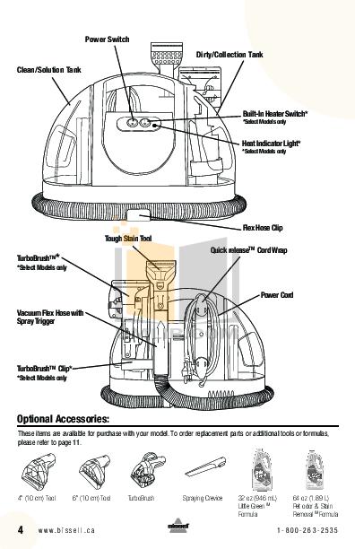 PDF manual for Bissell Vacuum 1425