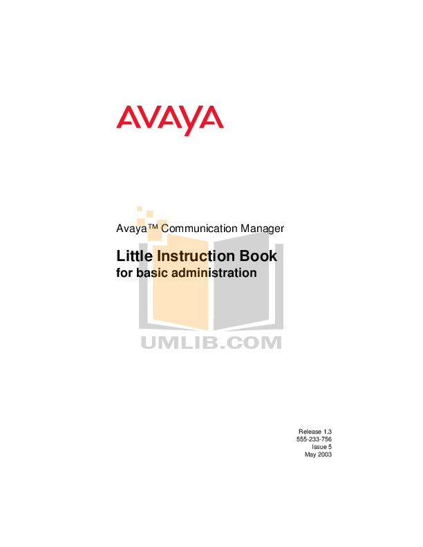Download free pdf for Avaya Definity 7401 Telephone manual