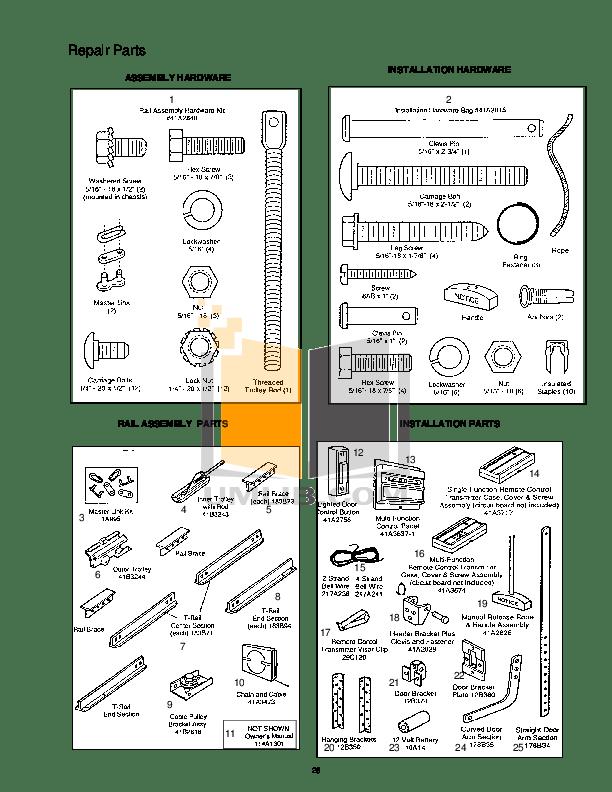 PDF manual for Chamberlain Other 5000E Garage Door Openers
