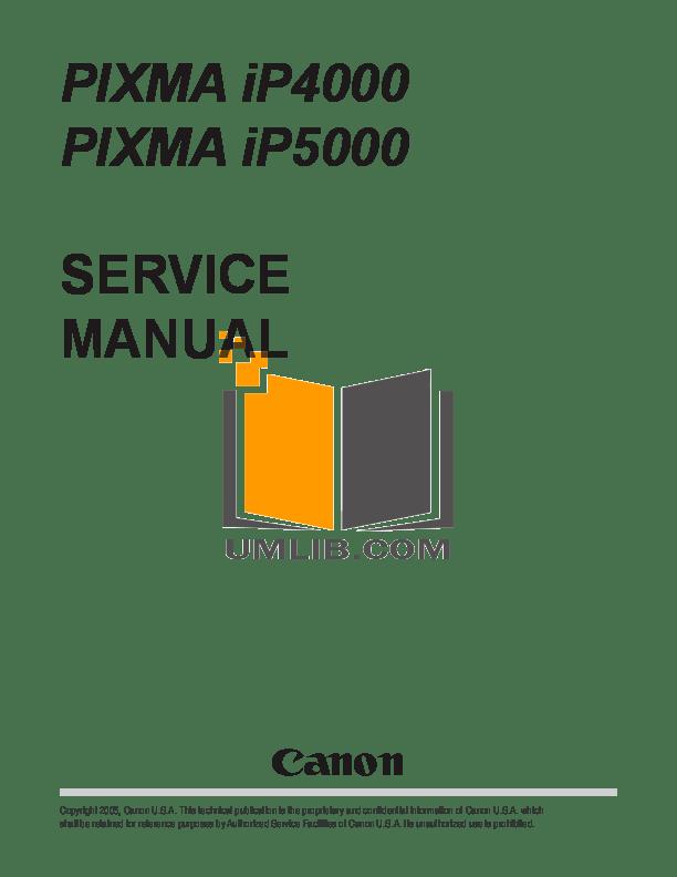 Download free pdf for Canon PIXMA iP5000 Printer manual